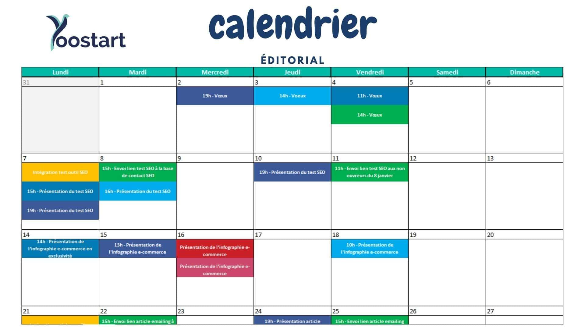 cover calendrier edito excel